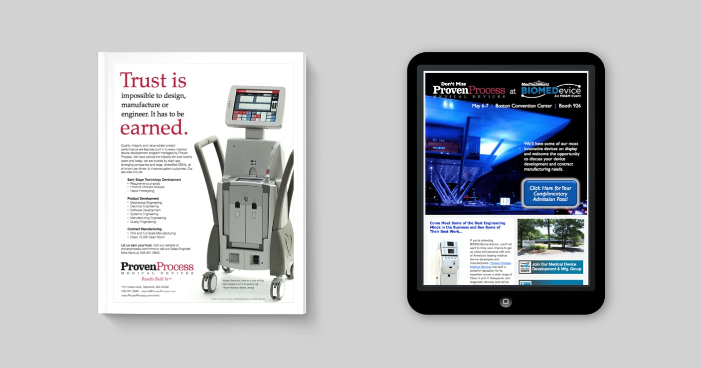 proven process print ads